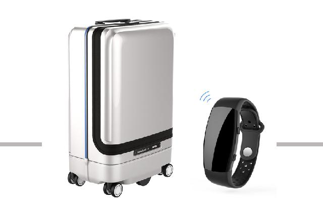 Tired of wheeling your bag around the airport? How about using a robotic suitcase? image